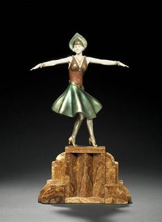 Chiparus art deco bronze and ivory