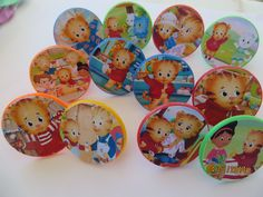 12 Daniel Tiger's Neighborhood Rings cupcake toppers - birthday party favor