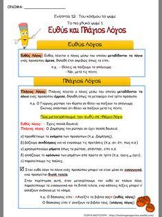 Greek Language, Grammar, School Stuff, Education, Learning, Day, Teaching, Training, Educational Illustrations