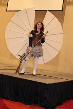 DragonCon 2012 Masquerade winner - her wings actually folded and unfolded at the flip of a switch. So cool!