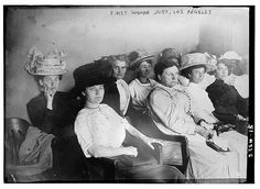 Historic moment. November 1911. first woman jury, Los Angeles, CA
