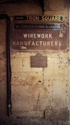 Vintage industrial painting on brick, Close in Edinburgh Industrial Farmhouse, Industrial Loft, Vintage Industrial, Industrial Paintings, Closed Signs, Pipe Dream, Industrial Photography, Basements, Wall Treatments