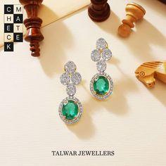 Diamond Earing, Diamond Studs, Diamond Jewelry, Talwar Jewellers, Gold Earrings, Drop Earrings, Peacock Design, Ear Studs, Necklace Designs