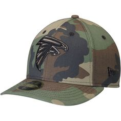 Men's Atlanta Falcons New Era Woodland Camo Low Profile 59FIFTY Fitted Hat