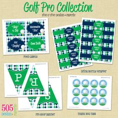 Printable Golf Party Decorations - Full Collection. $30.00, via Etsy.
