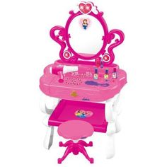 Matashi Princess Vanity Set with 16 Fashion & Makeup Accessories, Functional Piano Keyboard & Flashing Lights by Dimple®