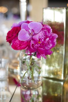 Bright pink floral details #weddings #blisschicago