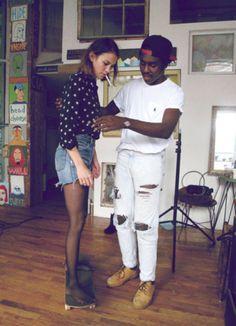 Devonte Hynes and Alexa Chung
