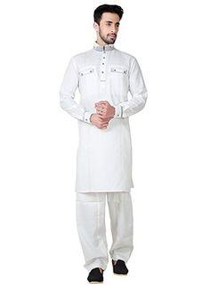 Shop for Salwar Kameez,white Kurta Pyjamas online from US, UK and 180 Countries. Kurta Pajama Men, Boys Kurta, Cotton Linen, White Cotton, White Kurta, Kurta Style, Mens Kurta Designs, Collar Designs