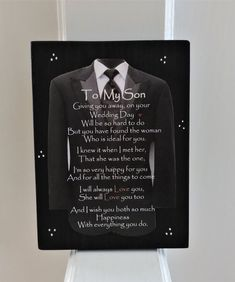 Engagement Gift for Son Son Wedding Gift Engagement Gift Mother Quotes, Daughter Quotes, Mom Quotes, Sign Quotes, Wedding Day Quotes, On Your Wedding Day, Engagement Gifts For Him, Engagement Greetings, Sentimental Wedding Gifts