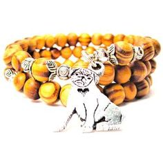 NATURAL WOOD WRAP BANGLE SITTING PUG WITH HEART BRACELETS - See more at: http://www.chubbychicocharms.com #Pug #Love #Family #Pets #AmericanMade
