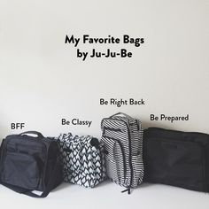 The Best Diaper Bags ever via Rad And Happy and Ju Ju Be @jujube_intl