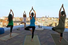 Yoga on the terrace at Generator Hostel Barcelona