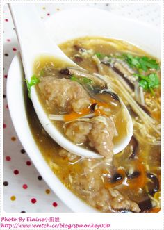 pork & mushroom soup | Taiwanese Food 香菇赤肉羹