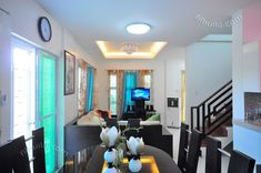 Myhaybol - photo gallery of real homes in the Philippines showcasing Filipino architecture and interior design. Cheap Living Room Sets, Living Room Decor, Philippines House Design, House Layout Plans, House Plans, Modern House Facades, Small House Interior Design, Kerala House Design, Custom Home Designs