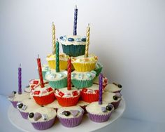 Cupcake Tower Birthday Cake Recipe - Kidspot Australia