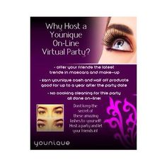Why host a Younique virtual party? Best Ups, 3d Fiber Lashes, 3d Fiber Lash Mascara, Best Lashes, Younique Presenter, Cosmetic Companies, Host A Party, Free Makeup, Health And Beauty