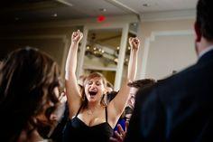 Crazy wedding dance floor guests