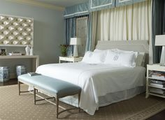 Jan Showers | Interior Design | gorgeous bedroom | layers of fabrics, textures and soothing colour palette