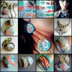 Sona Grigoryan's picture tutorial explaining how she makes her mosaic polymer clay jewelry.
