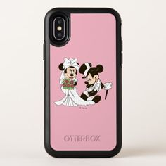 Mickey Mouse & Minnie Wedding OtterBox Symmetry iPhone X Case