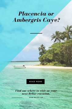 What makes people visit Placencia versus Ambergris Caye? Find out which paradise to visit on your next Belize vacation. Belize Vacations, Belize Resorts, Belize Travel, Caribbean Vacations, Top All Inclusive Resorts, Weather In Belize, Ambergris Caye, Travel Destinations, Travel Tips