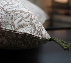 Imprimés - Cotton cushion cover - Les Imprimés is a 27 pattern rich collection in hand - block printed cotton fabrics from India. The colours of the Luni linens perfectly complement these prints.