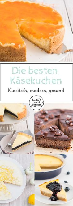 Käsekuchen gibt es in unzähligen Varianten. Hier findet ihr unsere liebsten Käsekuchen-Rezepte. Außerdem Tipps, wie der perfekte Käsekuchen gelingt!