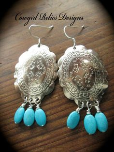 Southwestern Style Repurposed Silver by cowgirlrelicsdesigns, $20.00