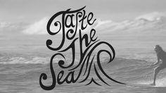 #Surf Inspired Type by Craig Earl, Taste the #Sea