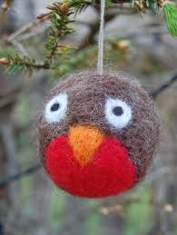 needle felting christmas decorations - Google Search