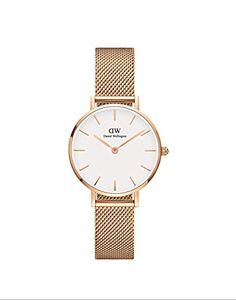 Daniel Wellington Classic Petite Melrose Rose-Gold Mesh Strap White Dial Watch Source by xindyDaila Daniel Wellington Watch Women, Daniel Wellington Classic Petite, Bracelet Or Rose, Bracelet Nato, Mesh Bracelet, Relogio Casio Edifice, Dw Watch, Mesh Armband, Rose Gold