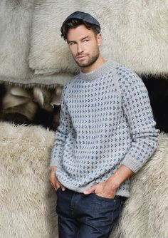 "Ravelry: Nr 1 ""Nordsjø"" herregenser med raglan pattern by Sandnes Design Yarn Crafts, Warm And Cozy, Knitwear, Men Sweater, Turtle Neck, Knitting, Creative, Womens Fashion, Sweaters"