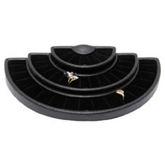 Good for Showcase or personal use. Lightweight plastic ring base w/velvet covered Foam. Black Tray with Black Foam. This lightweight Tiered Ring Display. Each Slot can hold ring. Black Tray, Ring Displays, Ring Stand, Jewellery Display, Slot, Rings, Ebay, Velvet, Plastic