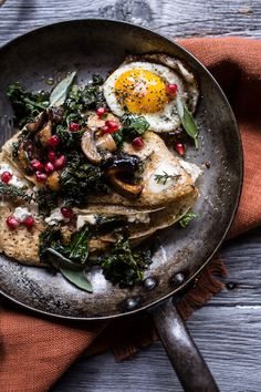 Buttered Hazelnut Crepes with Caramelized Wild Mushrooms, Kale and Goat Cheese   halfbakedharvest.com @hbharvest