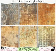 Instant Download Grungy Gray and Beige Painted Papers by JustBYourself, $3.00 (1901)