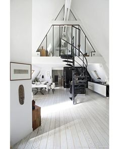 Triangular roof / Stairs Accent Author: ? - Architecture and Home Decor - Bedroom - Bathroom - Kitchen And Living Room Interior Design Decorating Ideas - #architecture #design #interiordesign #homedesign #architect #architectural #homedecor #realestate #contemporaryart #inspiration #creative #decor #decoration