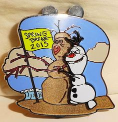 Disney Frozen Olaf Spring Break 2015 LE 3000 Pin New. This trading pin makes a great collectible gift or addition to your Disneyana collection. Disney Trading Pins, Disney Pins, Disney Magic, Disney Art, Spring Break 2015, Disney Pin Collections, Disney Frozen Olaf, Disney Collector, Disneyland Vacation