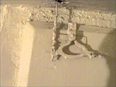 """Old Victorian Door bell still working - Hawthorn Plaster Repairs.  """"Very unusual to see one in working order..."""" so they talk over every single pull of the thing.  Frustrating."""
