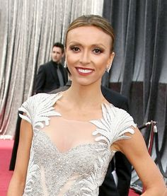 Giuliana Rancics sleek, center parted hairstyle
