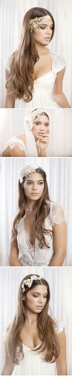LOVE these bohemian wedding headbands/headpieces!!