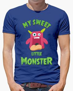 Camiseta My Sweet Little Monster. Adorable monstruo ideal para niños