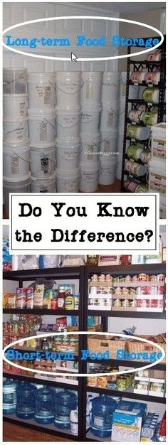 Do you know the difference between short term & long term food supply? Preppers Survive #FoodStorage
