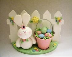Easter Scene - Bunny - Polymer Clay - Spring - Easter