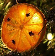 Clove studded orange