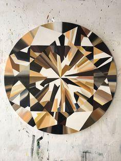 Diamonds - Kurt Pio Crystal Tattoo, 5th Grade Art, Bottle Cap Images, Diamond Art, Acrylic Art, Pattern Art, Geometric Shapes, Art Drawings, Art Photography
