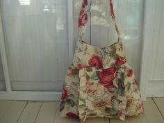 Hobo Ruffled/ Pleated Shoulder Bag Boho Market Bag, via Etsy.
