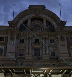 Bianco-Valente, Relational, 2013, Stazione di Mergellina, cavi elettroluminescenti.