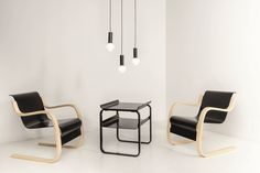 Shown in use with the Side Table 915 (sold separately) Alvar Aalto, Three Color Combinations, Eileen Gray, Luz Led, B & B, Single Piece, Modern Lighting, Pendant Lamp, Cork