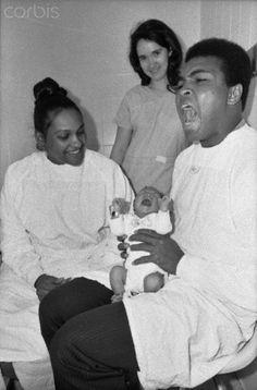 Muhammad Ali First Wife   Muhammad Ali Holding His Newborn Son - U1739141-17 - Rights Managed ...